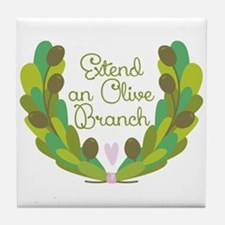 Extend an Olive Branch Tile Coaster