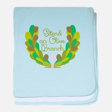 Extend an Olive Branch baby blanket