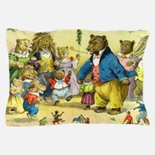 Christmas Party in Animal Land Pillow Case