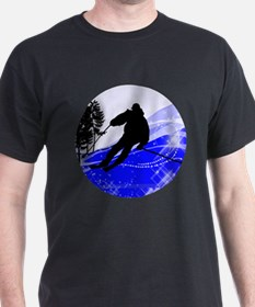 Downhill on the Ski Slope T-Shirt