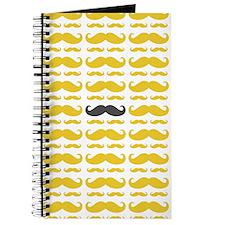 Cute Mustache Pattern Journal
