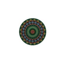 Polished Stone Mandala Mini Button
