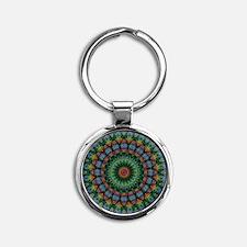 Polished Stone Mandala Keychains