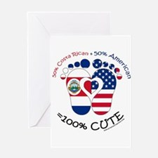 Costa Rican American Baby Greeting Cards