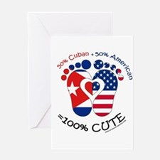 Cuban American Baby Greeting Cards