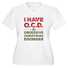I Have Ocd Women's V-Neck Plus Size T-Shirt