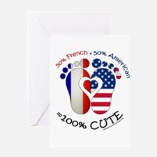 French American Baby Greeting Cards