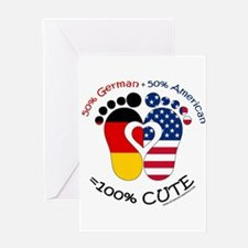 German American Baby Greeting Cards