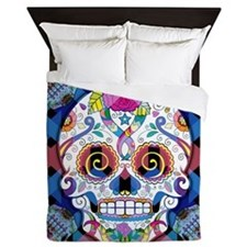 Sugar Skulls Queen Duvet