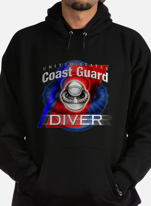 Cute Coast guard diver Hoodie (dark)