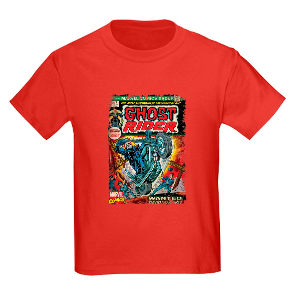 1401638771 CafePress Ghost Rider Kids Dark T Shirt Kids Cotton T-shirt