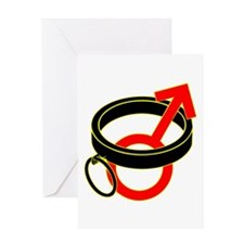 Male Submissive Collar Greeting Cards