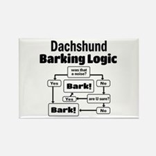 Cute Dachshund lovers Rectangle Magnet