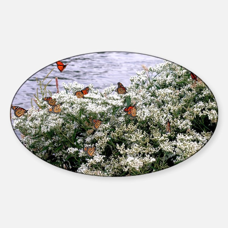 Monarchs on a Babys Breath Rest stop Decal