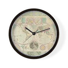Bowles Antique Map Wall Clock