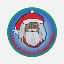 Jolly Santa Ornament (round)