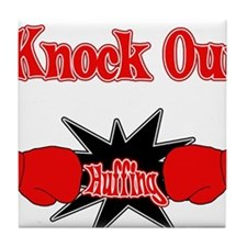 Knock Out Huffing red.png Tile Coaster