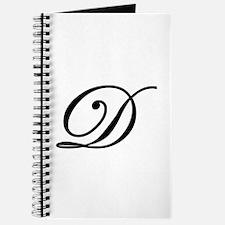 LETTER D MONOGRAM Journal
