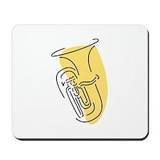 Tuba Mousepad (Gold)