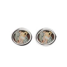 Mary Cassatt Child's Bath Impressionist Oval Cuffl