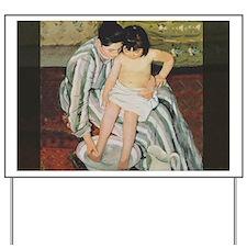 Mary Cassatt Child's Bath Impressionist Yard Sign