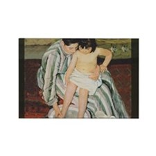 Mary Cassatt Child's Bath Impressionist Magnets
