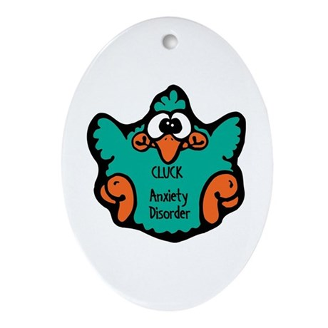 Anxiety Disorder Oval Ornament