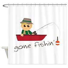 Gone Fishin Shower Curtain