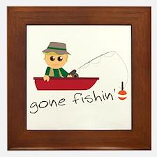 Gone Fishin Framed Tile
