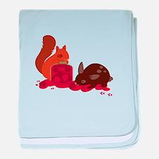 Eating Animals baby blanket