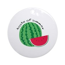 Taste Of Summer Ornament (Round)