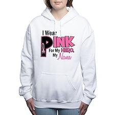 Cute Support breast cancer awareness month ribbon nana Women's Hooded Sweatshirt