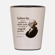 George Washington on Liberty Shot Glass