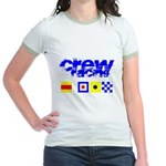 'Race 2 Win' in this Jr. Ringer T-Shirt