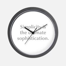 Simplicity is the ultimate sophistication Wall Clo