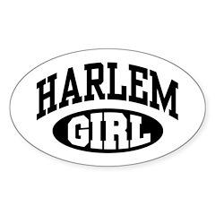 Harlem Girl Oval Sticker