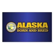 Alaska Born and Bred Decal