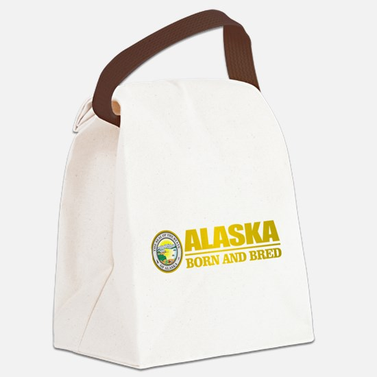Alaska Born and Bred Canvas Lunch Bag