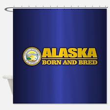 Alaska Born and Bred Shower Curtain