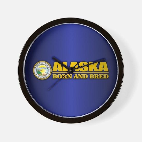Alaska Born and Bred Wall Clock
