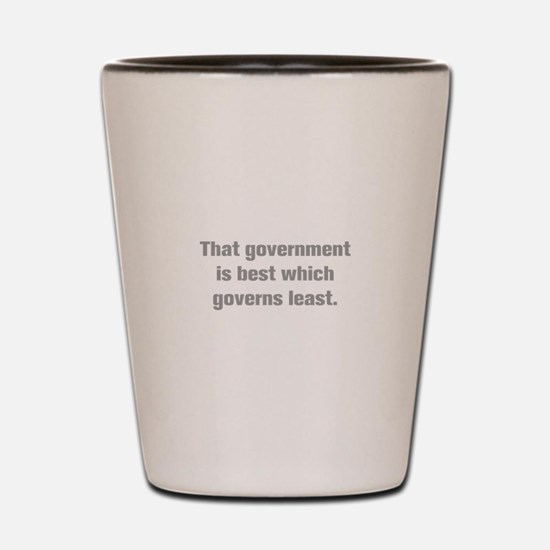 That government is best which governs least Shot G