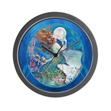 Clive Pearl Mermaid Wall Clock