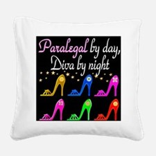 FIERCE PARALEGAL Square Canvas Pillow