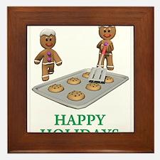 HAPPY HOLIDAYS - GINGERBREAD MEN Framed Tile