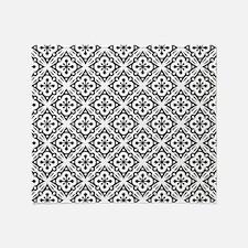 Floral Nouveau Deco Pattern Throw Blanket