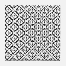 Floral Nouveau Deco Pattern Tile Coaster