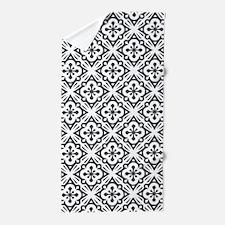 Floral Nouveau Deco Pattern Beach Towel