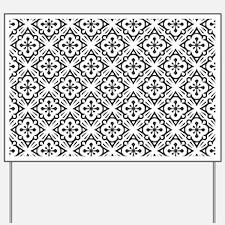 Floral Nouveau Deco Pattern Yard Sign