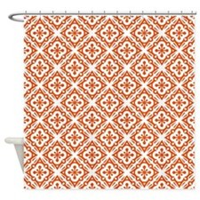 Floral Deco Pattern Shower Curtain