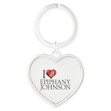 I Heart Epiphany Johnson Heart Keychain